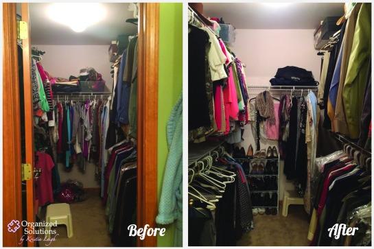 Master Closet Declutter/ Shoe Organization